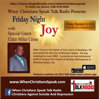 Friday Night Joy with Special Guest:  Elder Mike Cross