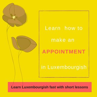 Lesson 19: Learn how to make an appointment in Luxembourgish