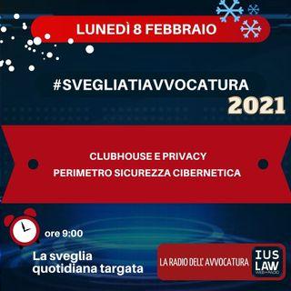 CLUBHOUSE E PRIVACY – PERIMETRO SICUREZZA CIBERNETICA – #SVEGLIATIAVVOCATURA