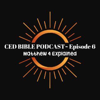 Bible Study Podcast ~ Matthew 4
