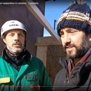 25-Intervista in cantiere al carpentiere di una casa in balle di paglia