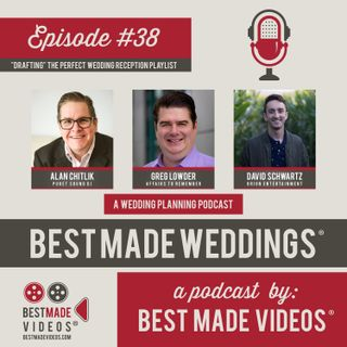 """Episode 38 (""""Drafting"""" the Perfect Wedding Reception Playlist)"""