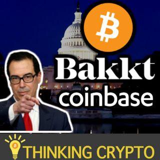 BITCOIN & CRYPTO Stock Crash - Mnuchin Hires Coinbase CLO - Bakkt $300M Funding - Tezos $200M