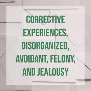 Corrective Experiences, Disorganized, Avoidant, Felony, and Jealousy