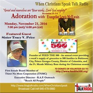 Adoration with Evangelist Lewis McILwain and Special Guest Sister Tracy Price