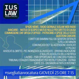 Giovedì,  23 Marzo 2017 #SvegliatiAvvocatura - LIVE