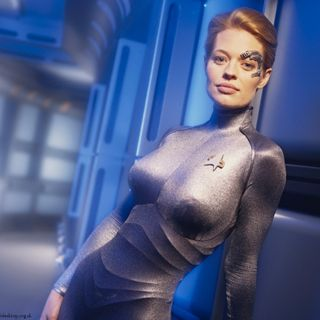 Actress Jeri Ryan. Seven of Nine. Here. Now! INTERVIEW
