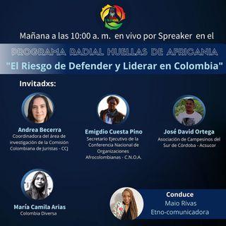 El riesgo de defender y liderar en Colombia