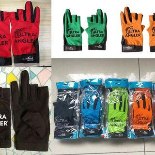 Waterproof 3 cut finger non-slip ultra angler fishing gloves outdoor sport