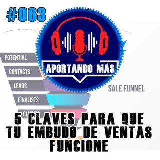 5 Claves Para que Tu Embudo De Ventas Funcione | #063 - Aportandomas.com