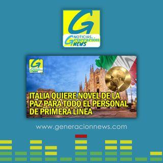 722: ITALIA PIDE NOVEL DE LA PAZ PARA PERSONAL MEDICO