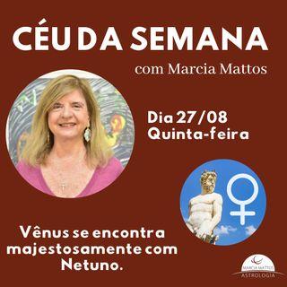 Céu da Semana - Quinta-feira, dia 27/08:  Vênus se encontra majestosamente com Netuno