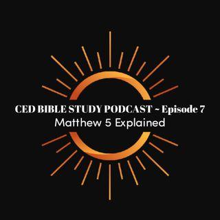 Bible Study Podcast ~ Matthew 5