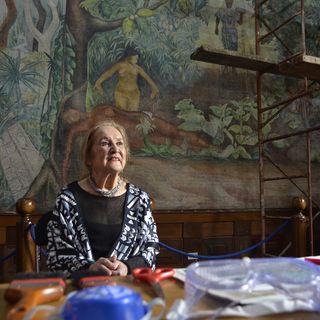 Rina Lazo, la última muralista