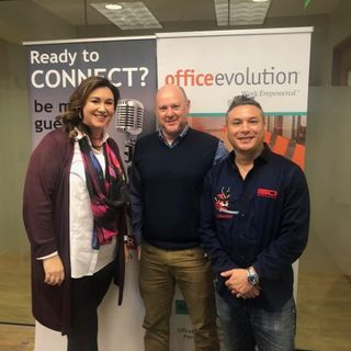 Kara Brown with SmithBrown Marketing, Kevin Center with PostNet and Troy Hipolito with ReturnClient