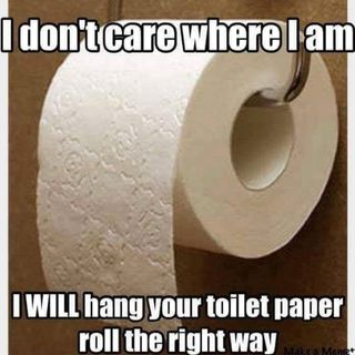 What side do you put the toilet paper?