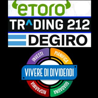 ETORO vs TRADING 212 vs DEGIRO: qual'è il miglior broker?