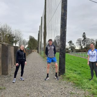 Lorraine Bray, and Jenny McCarthy, Waterford Camogie Stars, VIRTUAL RUN TO CROKER