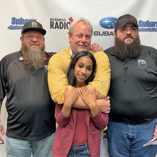 Jeremy Durkin and Billy Brown of Bearded Villains, and Tami Wilder of Positive Impact