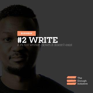 2. Write - Make it Plain