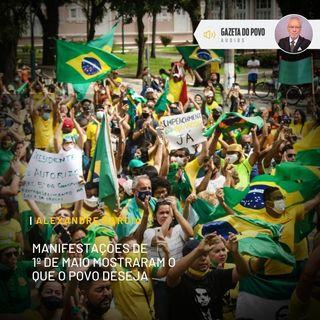 Manifestações de 1º. de maio mostraram o que o povo deseja