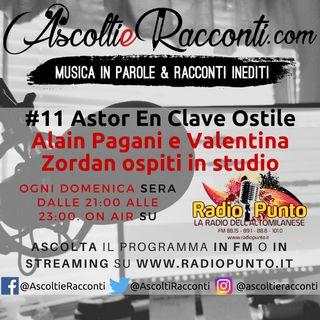 Radio Punto | #11 Astor En Clave Ostile | Intervista ad #AlainPagani e #ValentinaZordan