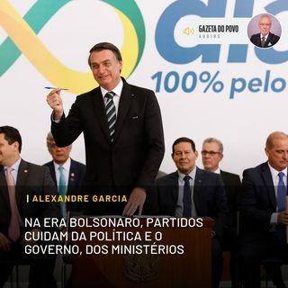 Na era Bolsonaro, partidos cuidam da política e o governo, dos ministérios