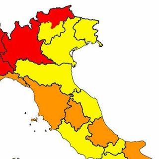Coronavirus, da oggi 5 regioni cambiano colore