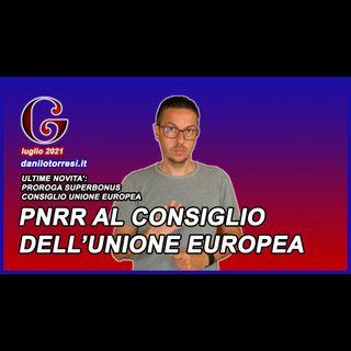SUPERBONUS 110 ultime notizie il PNRR in Consiglio dell'Unione Europea per la proroga