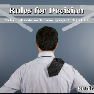 Rules for Decision - 10/16/16