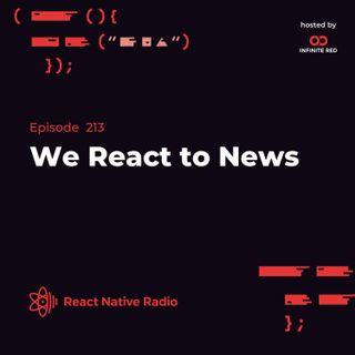 RNR 213 - We React to News