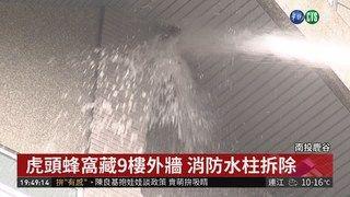 20:09 虎頭蜂窩藏9樓外牆 消防水柱拆除 ( 2019-01-18 )