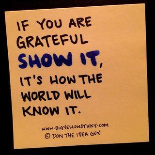 Show Gratitude : BYS 313