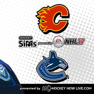 Flames vs Canucks (NHL 17 Hockey Sims)