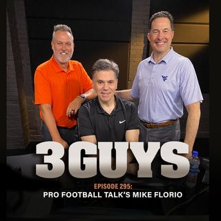 Pro Football Talk founder Mike Florio with Tony Caridi and Brad Howe
