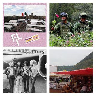 FIL Zócalo 2018, Legalización de la Amapola, Force Fest 2018, Led Zeppelin 50 Años, Feria Nacional del Mole 2018, NFL Semana 5.