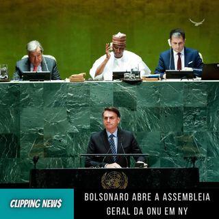 Bolsonaro abre a Assembleia Geral da ONU em NY