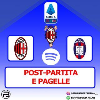 MILAN-CROTONE 4-0 | PAGELLE e POST-PARTITA