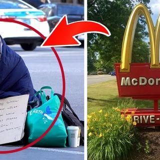 Senzatetto ordina dal McDonald ma la risposta dell'impiegato non è ciò che si aspettava...