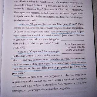 #+Umcast: Leia o Livro: Uma Vida Com Propósitos, de Rick Warren.