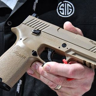 US Army Field Test Sig Saur P320 Weapon