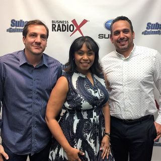 Rafael Villegas of Georgia Hispanic Construction  Association (GHCA), Clara Richardson-Olguin of CIC Floors, and Francisco Manuel Martinez o