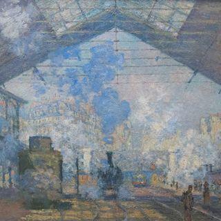 Musée d'Orsay #6 - Claude Monet, Dworzec Saint Lazaire