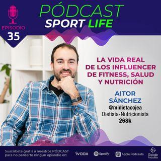 La vida real del influencer de nutrición Aitor Sánchez (@midietacojea)