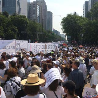 Saldo blanco por la marcha del silencio en la Ciudad de México