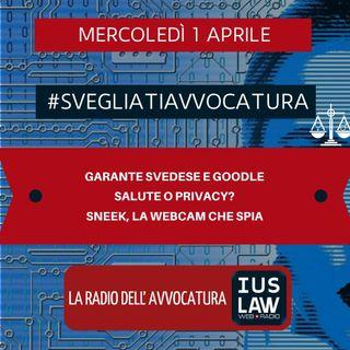GARANTE SVEDESE E GOODLE – SALUTE O PRIVACY? – SNEEK, LA WEBCAM CHE SPIA – #SVEGLIATIAVVOCATURA