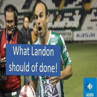 Landon Donovan incites the MOB to his defence