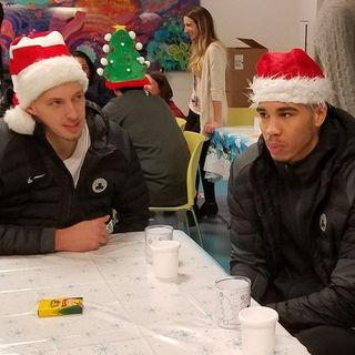 Celtics Players Spread Holiday Cheer At Boston Children's Hospital