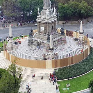 Cierre del Ángel de la Independencia es por restauración, no por grafitis