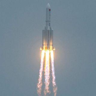 Cayó en el océano Índico, al oeste de Maldivas, el cohete chino reportado fuera de control